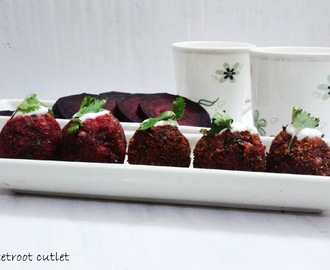 BEETROOT CUTLET / BEETROOT TIKKI / BEETROOT KEBAB