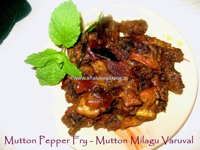 Mutton Pepper Fry - Mutton Milagu Varuval