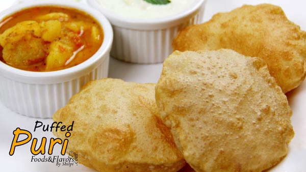 Poori Recipe (Puri Recipe) | How to Make Puffed Puri|Easy Puri Recipe
