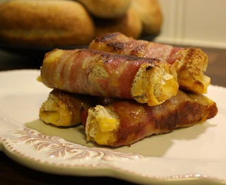 Crispy bacon and cheddar rollups!