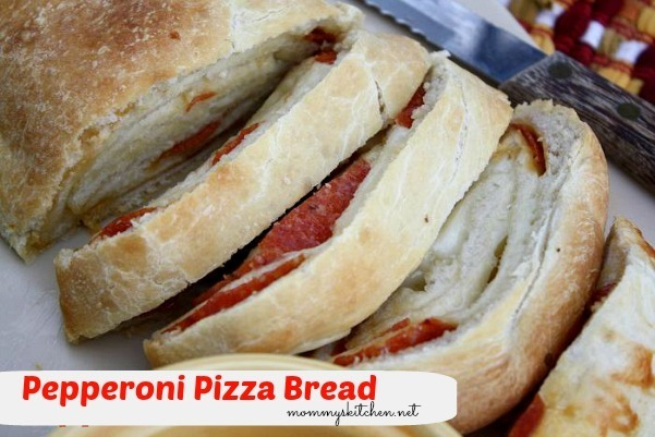 Pepperoni Pizza Bread {Carson Approved}