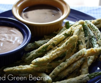 Crispy Fried Green Beans W/Zesty Dipping Sauce