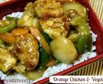 Orange Chicken & Vegetables {Chinese Take - In}
