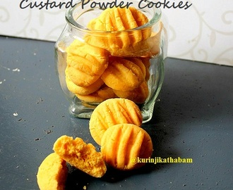 Eggless Custard Powder Cookies without Raising Agent | 4 Ingredient Cookie
