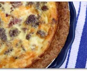Sausage & Bacon Breakfast Quiche & {A Taste of the South Feature}