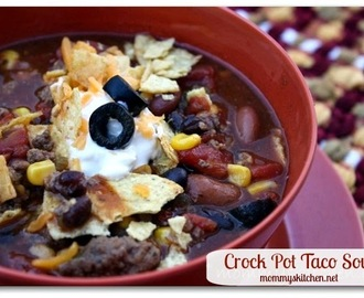 Meaty Taco Soup {Crock Pot Version}
