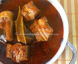 Chettinad Sura Meen Kuzhambu / Shark Fish Curry