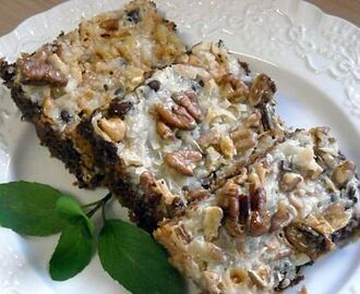 """Old Fashioned Favorite"" Paula's 5 Layer Bars + July's Dinner Menu"