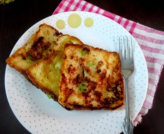 Chilli Cheese Toast ~ Easy Breakfast Recipe for Kids
