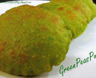 Green Peas Puri - Easy Puri Recipe - Healthy Recipe of Puri with Matar