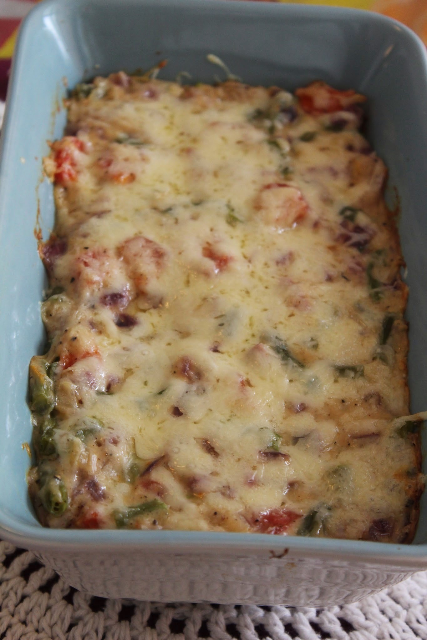 Cheesy baked vegetable and rice