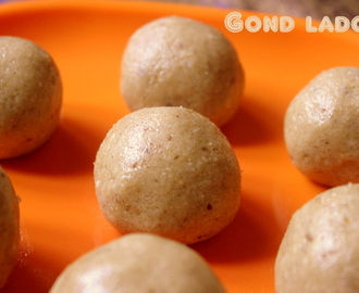 Gond or gaund ke ladoo (edible gum ladoo) (with wheat flour) recipe – healthy winter sweet recipes