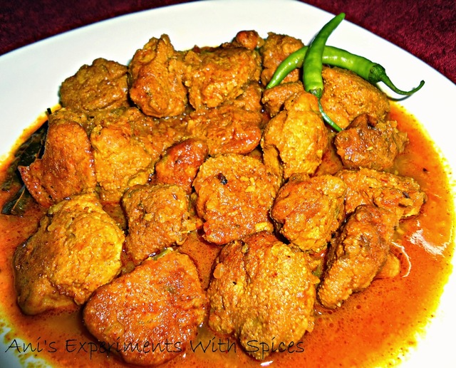 Maacher Dimer Borar Dalna ( Fish Roe Fritters In A Spicy Flavourful Curry)