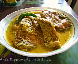 Rui Shorshe Posto ( Rohu Fish In Mustard N Poppy Seeds Paste)