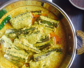Shorshe Dharosh Recipe | Sarson Wali Bhindi Recipe | Okra in Mustard Gravy Recipe