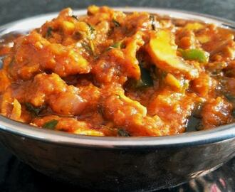 Hot and Spicy Kadai Mushroom Masala
