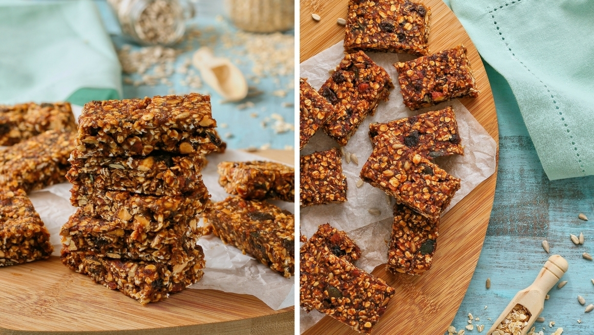 Date, seed and nut muesli bars