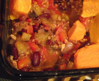 Mexican Aubergine and Sweet Potato Casserole