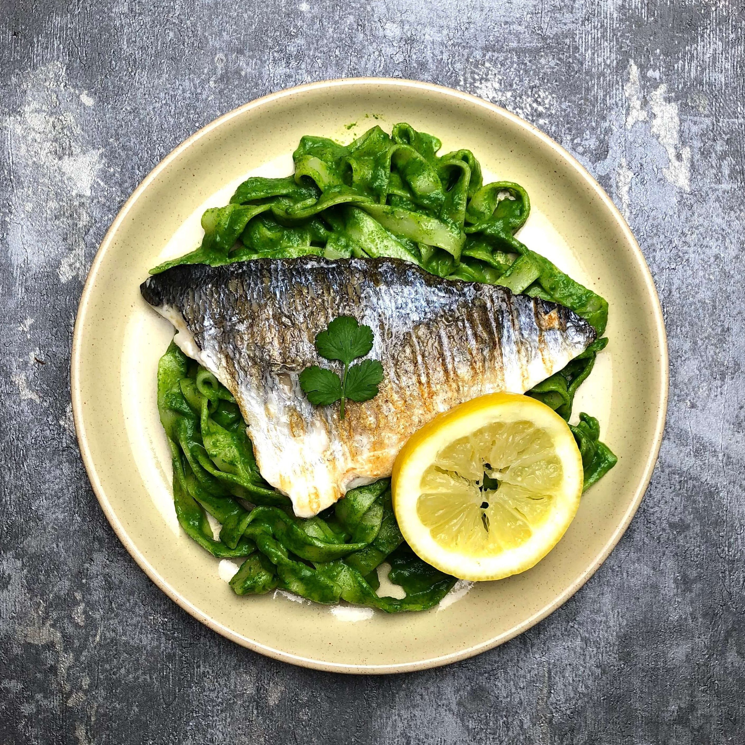 Nate's Sea Bream with Jalapeño Tagliatelle Recipe