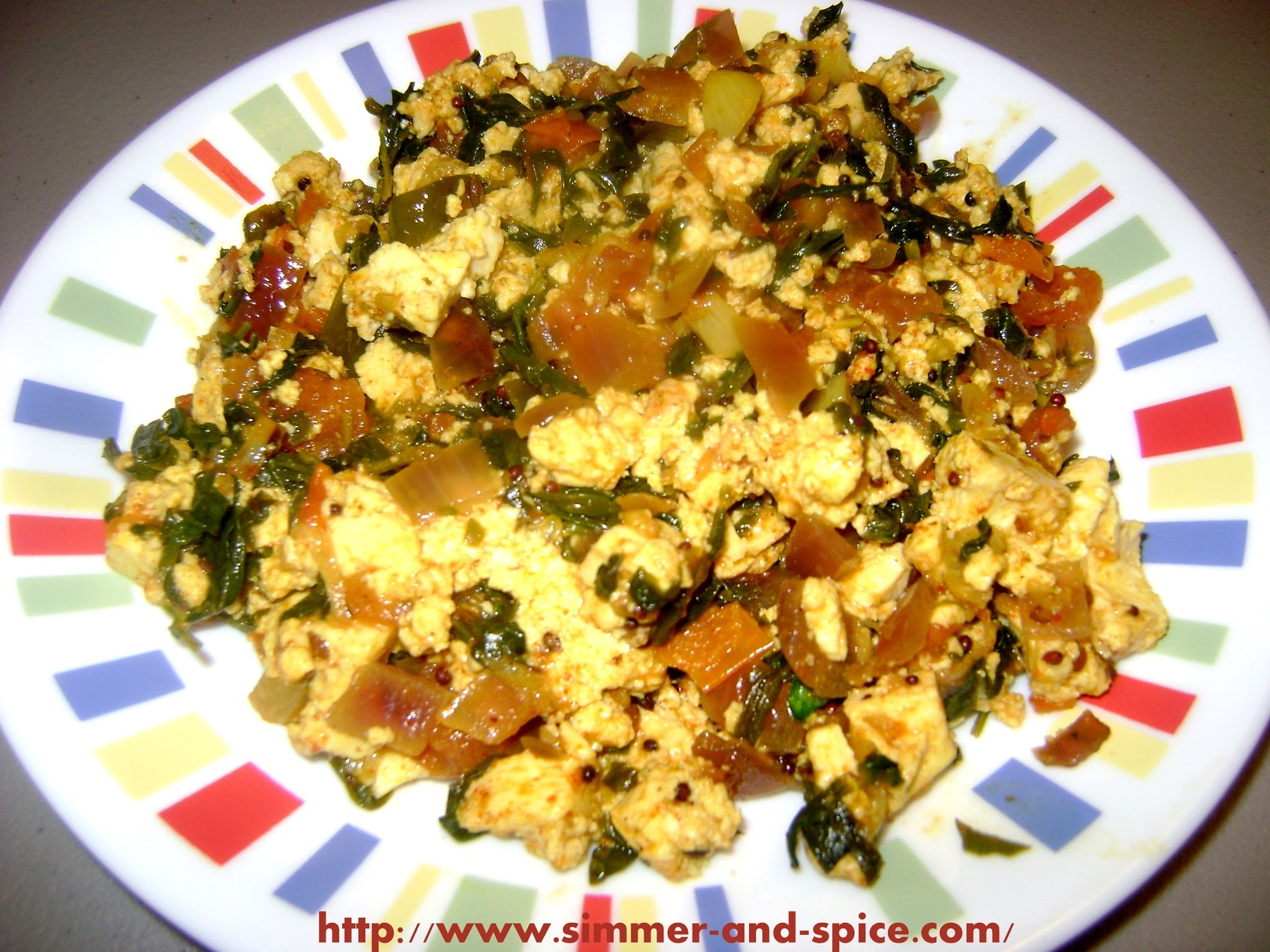 Methi / Kasuri Methi Paneer Sabzi ( Fenugreek and Indian Cottage cheese veggie)