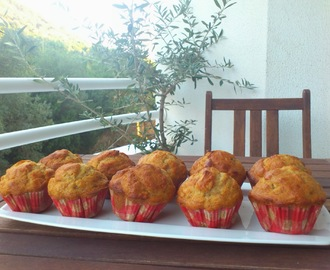 Muffins de banana com amêndoas e mel | Banana muffins with almonds and honey