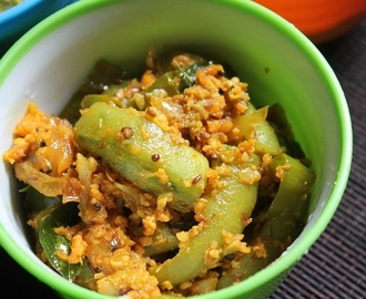 Ridge Gourd & Coconut Curry Recipe - Peerkangai Curry Recipe