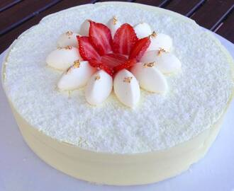 Cheesecake panna e fragole
