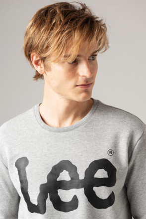 Lee LOGO SWEATSHIRT GREY Man