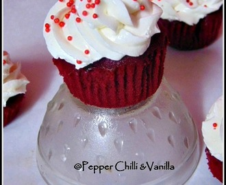 Red Velvet Cupcakes Recipe/ Red Velvet Cupcakes with Cream Cheese Frosting.