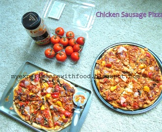 Homemade Chicken Sausage Pizza
