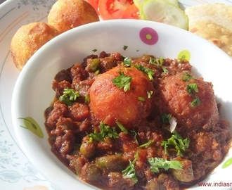 Potato Cheese Balls in Vegetable Tawa Mix