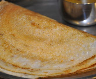 Plain Dosa (Rice and Lentils Savory Crepes)