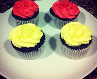 Chocolate cupcakes con Chantilly