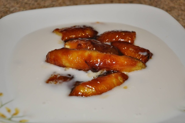 Caramelized Banana in Coconut Milk and review of Master India Chef