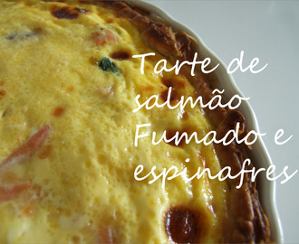 Tarte de salmão fumado e espinafres / Smoked salmon and spinach quiche