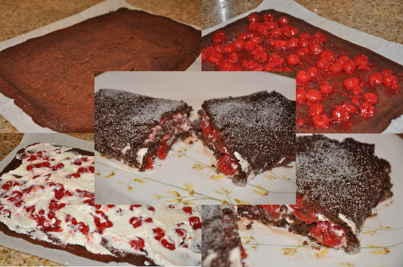 Black Forest Roulade with Cherry Filling - Sweet Punch for August