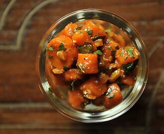 Moroccan carrot salad with Harissa