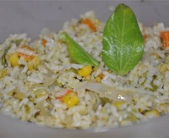 Pesto Vegetable Rice - Inspired from Champa