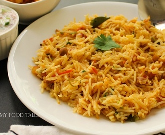 Tomato rice recipe | tomato bhath recipe