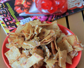 Caramelized Roti Crisps - Kids friendly snack