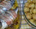 Dourada no forno com bacon