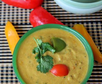 Capsicum stew - Capsicum korma - Bell pepper stew - Capsicum kurma - Simple side dish recipe - Simple curry recipe - Simple gravy recipe