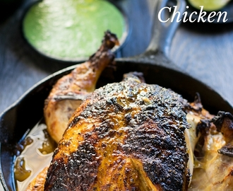 Oven Roasted Whole Tandoori Chicken with Dipping Sauce