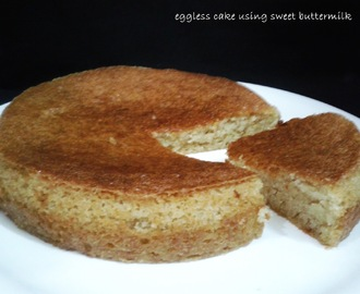 EGGLESS CAKE USING SWEET BUTTERMILK