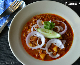 Keema Aloo - Minced mutton with potatoes in a rich gravy