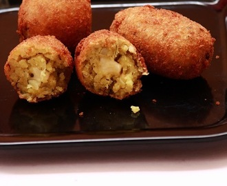 Poha croquettes / Poha potato cheese croquettes - Easy snack recipe