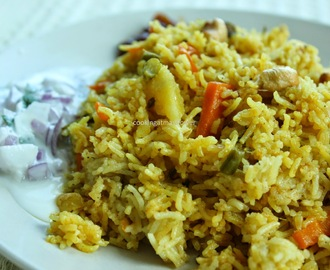 Vegetable pulao / Pressure cooker vegetable Pulav