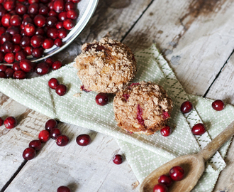 Cinnamon Streusel & Cranberry Muffins