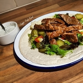 Syn Free Lamb Doner Kebab, with Lo-Dough