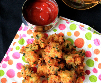 Rice Pakkora - Rice pakora - Rice Pakoda - Rice fritters - Simple snack recipe - Left over rice recipes - Tea time snack recipe